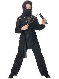 Deluxe Child Boys Sneaky Black Ninja Costume