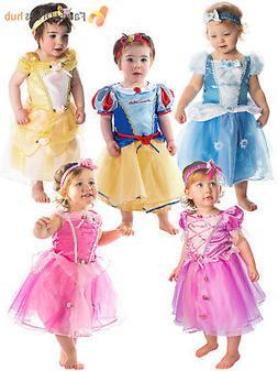 Deluxe Disney Princess Costume Baby Toddler Girl Fancy Dress
