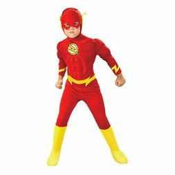 Deluxe Kids Flash Costume Muscle Chest DC Comics Halloween C