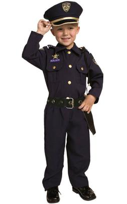 Deluxe Police Officer Cop Toddler Child Costume