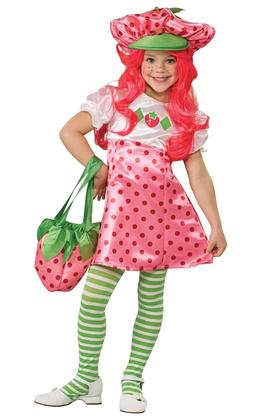 Deluxe Strawberry Shortcake Costume Kids Girls Child - Size