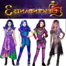 Descendants 3 Audrey Mal Cosplay Costume Kids Girls Party Ju