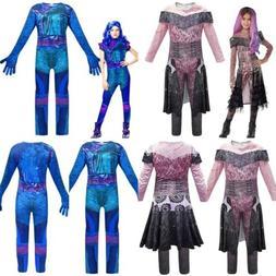 Descendants 3 Mal Cosplay Costume Kids Girls Jumpsuit Fancy