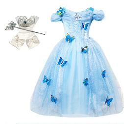 DH Princess Cinderella Butterfly Costume Dress with Cosplay