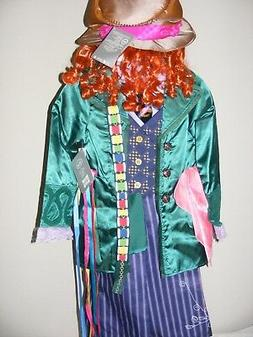 NEW Disney Store Alice in Wonderland Mad Hatter Costume Plus