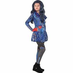 Disney Descendants 2 Evie Costume for Girls, Includes Dress