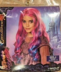 Disney Descendants 3 *AUDREY WIG* Pink Blue Hair For Hallowe