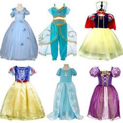 Disney Inspired Princess Dress 6+Sty Kid Girl Halloween Cosp