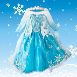 Disney Kids Girls Froen Elsa Queen ice princess Costume part