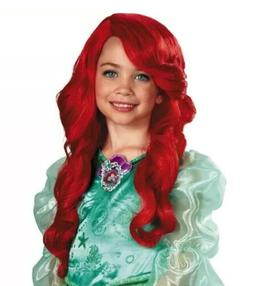 Disney Princess Ariel Child's Long Red Curly Costume Dress U