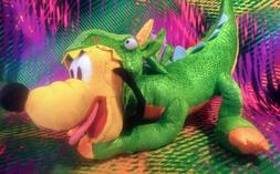 "Disney Store Nice Pluto Dog In Dragon Costume 15"" Plush Stuf"
