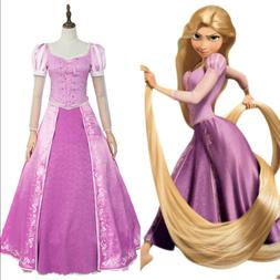 Disney Tangled Princess Rapunzel Party Dress COSplay Costume