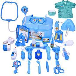 doctor nurse medical kit assorted toy blue boy & girl's pret