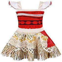 AmzBarley Girls's Dress Moana Costume Lace Sleeveless Party