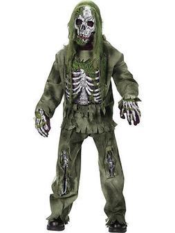 Skeleton Zombie Child Costume - Child Large