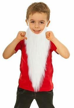Fake White Beard Costume for Kids Dwarf Costume Beard Gnome