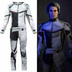 Ferr Ship Descendants 3 Carlos Cosplay Costume Jumpsuit Wig