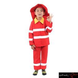 Firefighter Costume Kids Children Halloween Dress Up Party