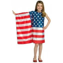 Flag Dress Kids Costume USA 4th of July Patriotic
