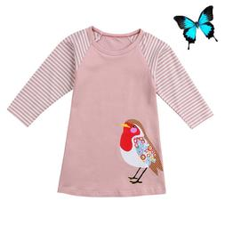 Pudcoco <font><b>Girl</b></font> Dress Cotton Cute <font><b>