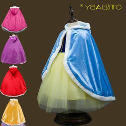 <font><b>Girls</b></font> Pleuche Velvet Cloak Children Elsa