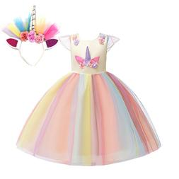 <font><b>Girls</b></font> Unicorn Dress up <font><b>Costume<