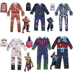 Skull Trooper Halloween Man Raven Cosplay Costume Boys Kids