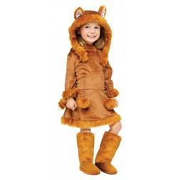 Fox Costume Kids Girls Halloween Fancy Dress