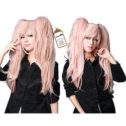 Free Hair Cap + Danganronpa Junko Enoshima Party Hair Cos Co