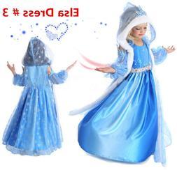 2020 Princess ELSA Let It Go Costume Dress Cosplay Party Dre