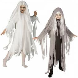 Ghost Costume Kids Gothic Scary Halloween Fancy Dress