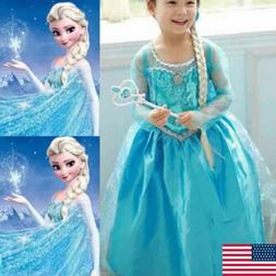 girl dress up princess child anna elsa