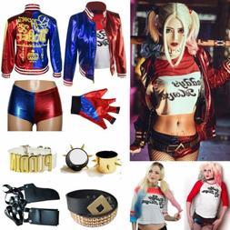 Girl Kids Women Harley Quinn Suicide Squad Halloween Costume