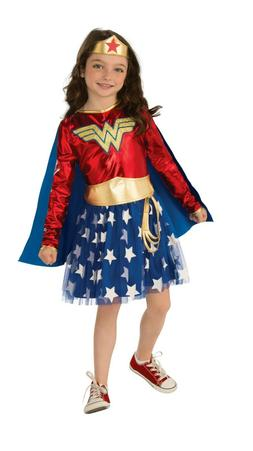 Girl's Official DC Comics Deluxe Wonder Woman Costume - Rubi