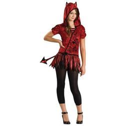 Girls Devil Costume Kids Halloween Fancy Dress