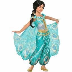 Disney Girls Jasmine Child Costume Halloween Peacock Whole N