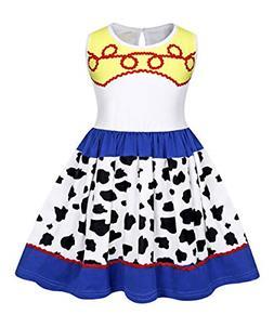 AmzBarley Girls Jessie Dress Childs Halloween Costume Dress