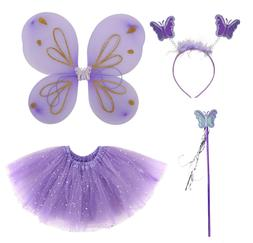 Girls Kids Costume Accessories - Wings Tutus Wands Headbands