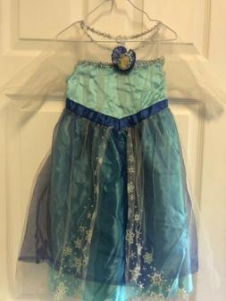 Girls Kids Disney Frozen Princess Elsa Halloween Costume Dre