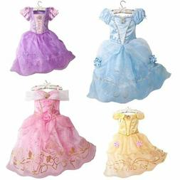 Girls Party Dress Kids Cinderella Snow White Halloween Costu