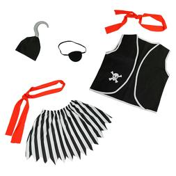 Girls Pirate Costume Accessories Set 6 Pcs - Child Halloween