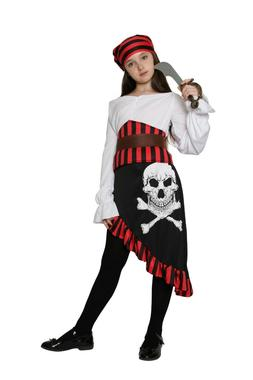 Girls Pirate Costume Kids Children Caribbean Halloween Fancy