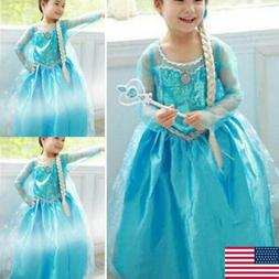 Girls Princess Dress Up Fancy Costume Party Cosplay Clothes