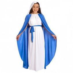 Girls Virgin Mary Religious Christmas Fancy Dress Costume Ki