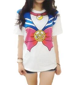 GK-O Japanese Anime Sailor Moon Style T-Shirt Harajuku Kawai