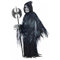 Grim Reaper Costume Kids Scary Halloween Fancy Dress