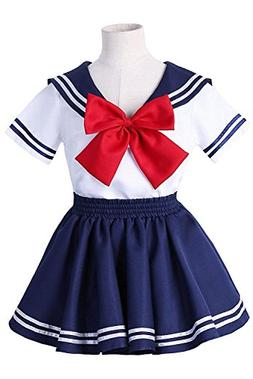 H&ZY Anime Kids Girl's Boy Navy School Uniform Sailor Costum