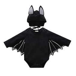 H&ZY Kids Black Bat Halloween Cosplay Costume Bat Wings Boys