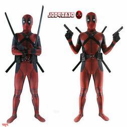 Halloween Adult / Kids Deadpool Spandex Costume Cosplay Jump