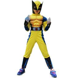 Halloween Costume Children Muscle Wolverine Show Clothes X-m